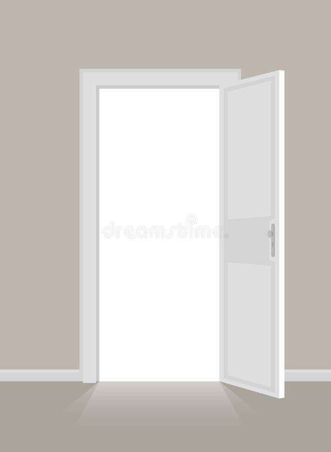 Offene Türen lizenzfreie abbildung