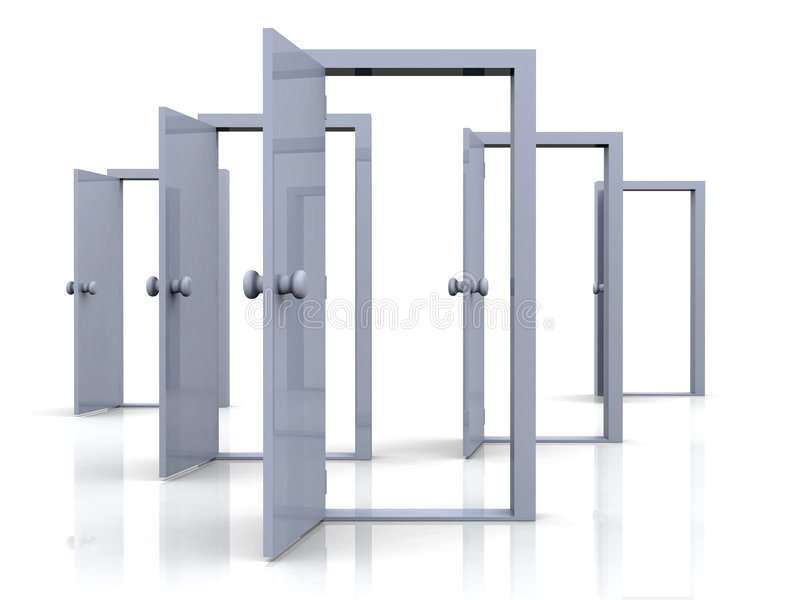 Offene Türen - Möglichkeiten vektor abbildung