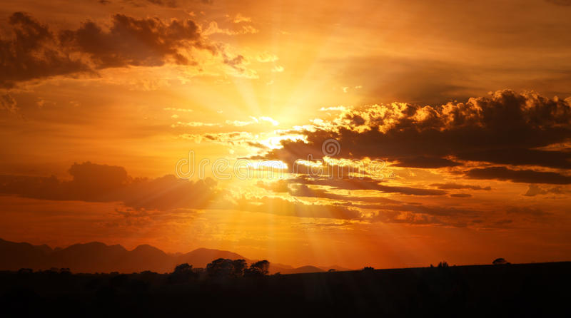Offener Himmel lizenzfreies stockfoto