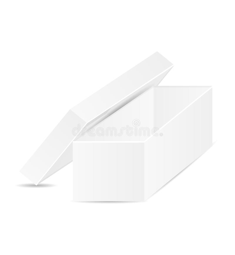 Offener Kasten des Weiß lizenzfreie abbildung