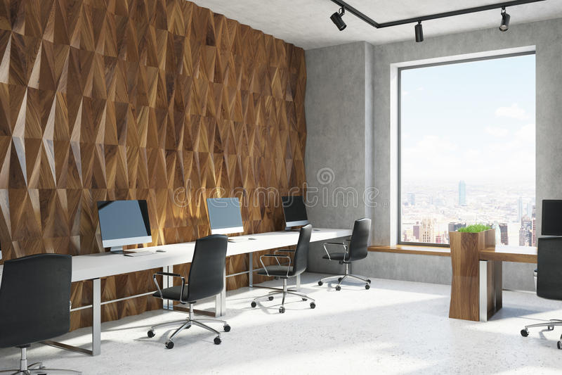 Offenes Büro des Diamantwand-Musters, Ecke lizenzfreie abbildung