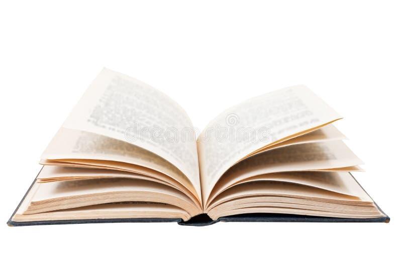 Offenes Buch lokalisiert auf Weiß lizenzfreie stockfotos
