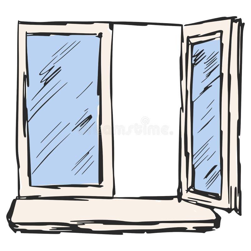 Offenes fenster  Offenes Fenster Vektor Abbildung - Bild: 39018274