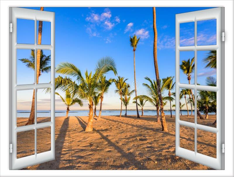 Offenes Fenster zum Meer stockbild. Bild von haupt, landschaft - 79974711
