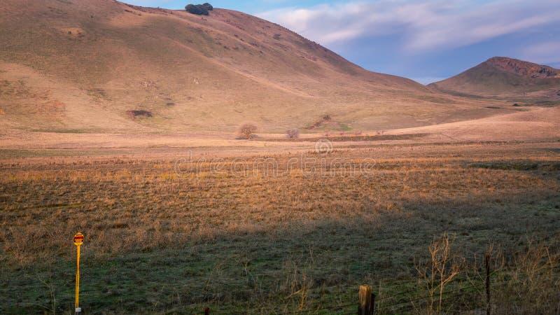 Offenes Gelände trocken von der Dürre lizenzfreie stockfotos