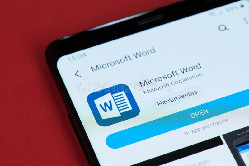 Offenes Microsoft Word-Büro lizenzfreies stockfoto