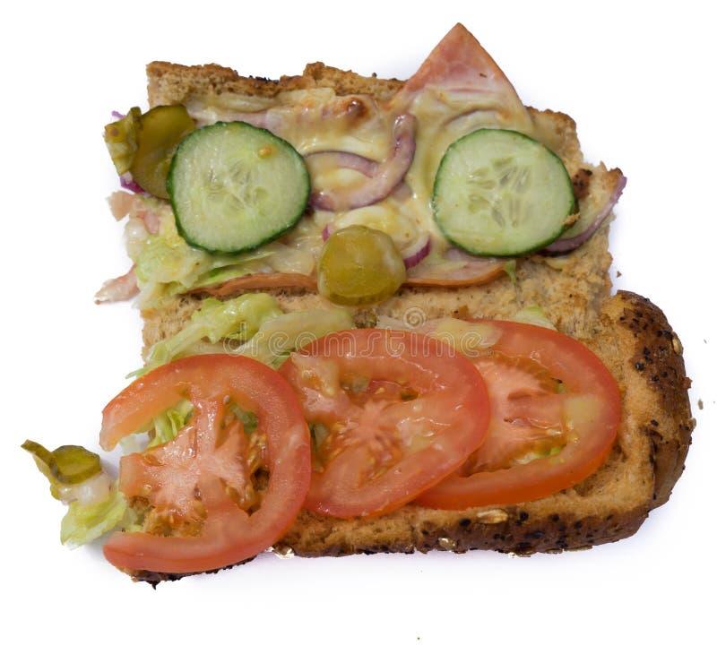 Offenes Sandwich lizenzfreies stockfoto