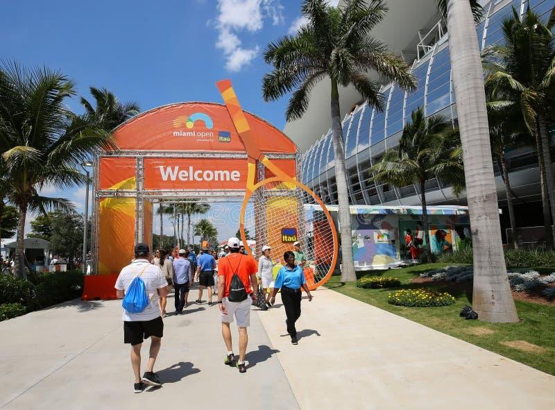 Offenes Tennis Miamis lizenzfreie stockbilder