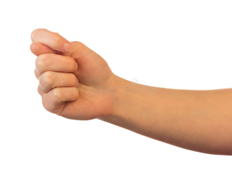 Offensive gesture fig sign stock photography