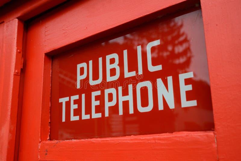 offentlig asktelefon arkivfoto
