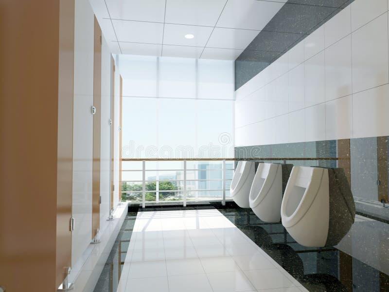 offentlig badrum 3d stock illustrationer
