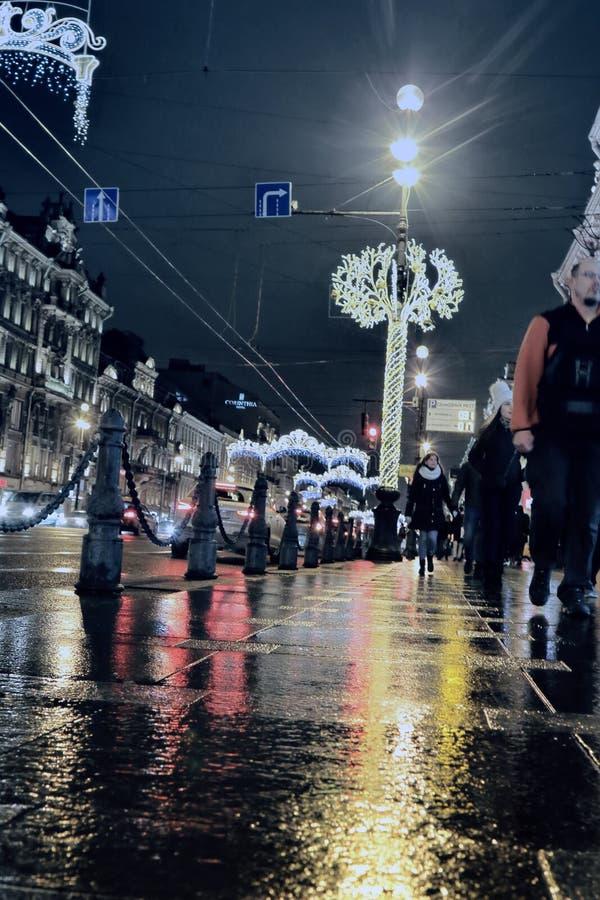 Offentlig ferie i den nordliga staden St Petersburg arkivfoton