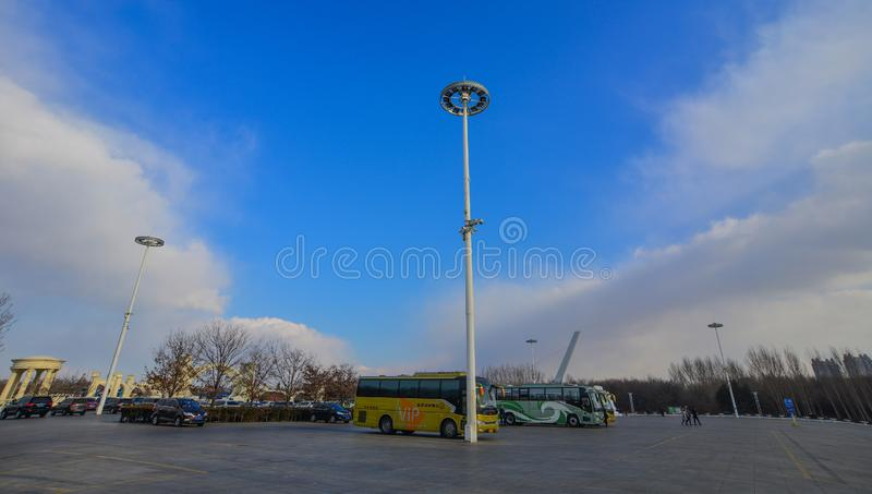 Offentlig fyrkant i Harbin, Kina arkivfoton