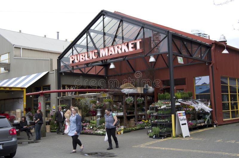offentlig granvilleömarknad arkivfoto