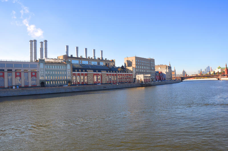 Offentlig kraftverk nummer 1 moscow Ryssland royaltyfria bilder