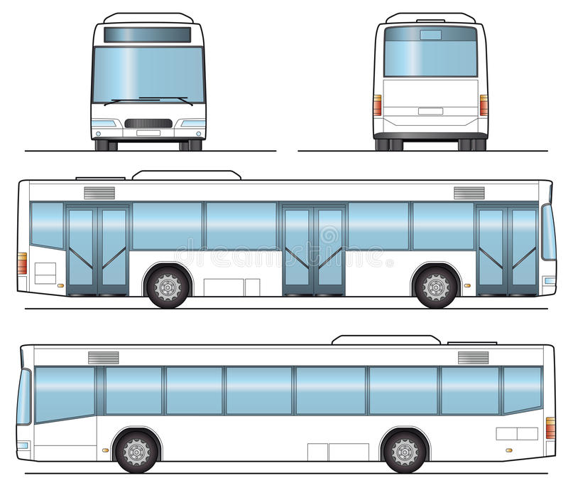 offentlig mall för buss vektor illustrationer