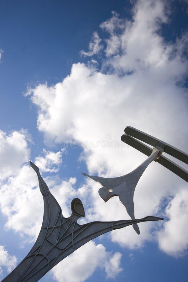 Offentlig skulptur för bemyndigande i Lincoln City Centre, Lincoln, Li royaltyfri fotografi
