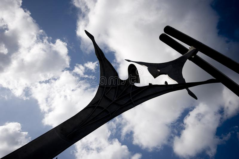 Offentlig skulptur för bemyndigande i Lincoln City Centre, Lincoln, Li royaltyfria foton