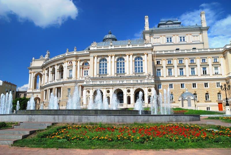offentlig teater ukraine för odessa opera arkivfoto