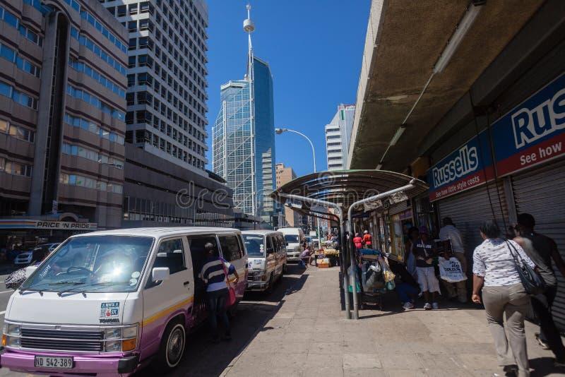 Offentlig vägren för Durban stad fotografering för bildbyråer
