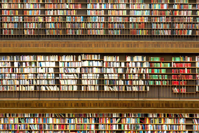 Offentligt bibliotek royaltyfri bild