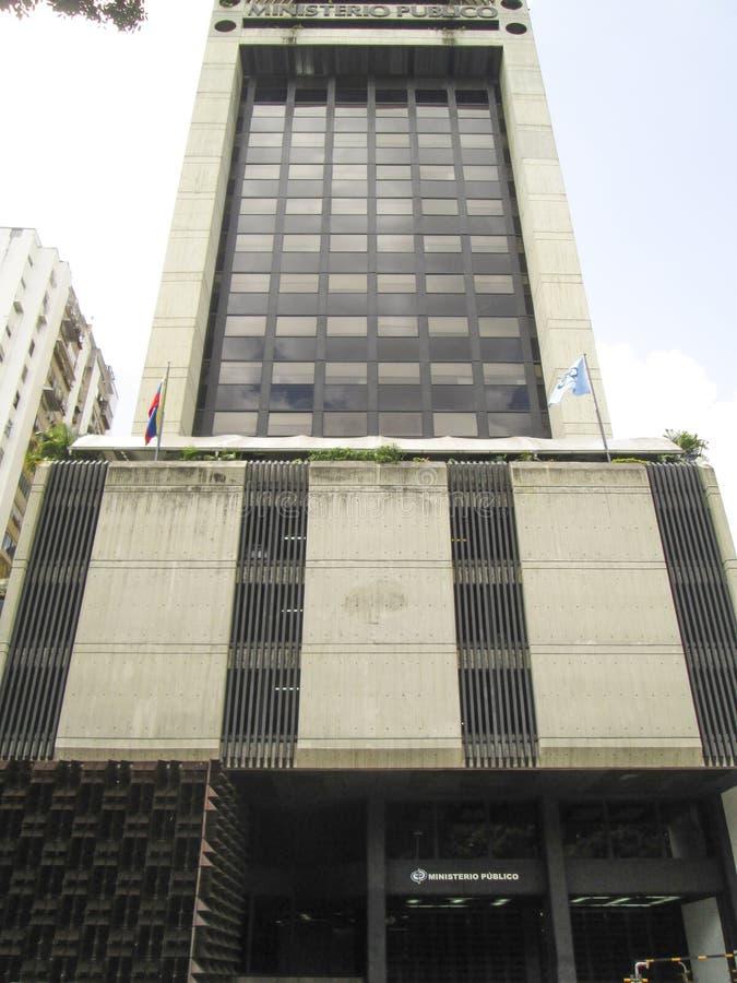 Offentligt departement, Ministerio Publico, Caracas, Venezuela royaltyfria bilder