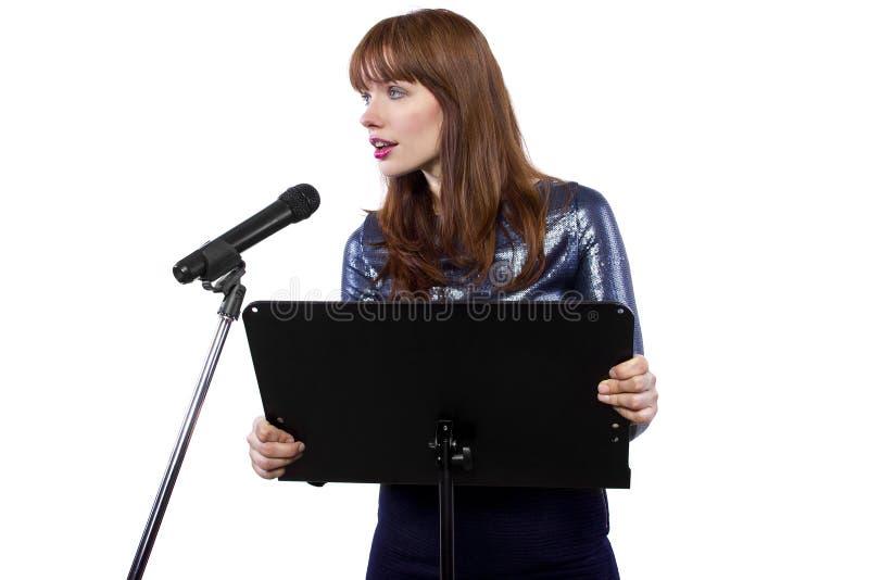 Offentligt kvinnlig för tala royaltyfria foton