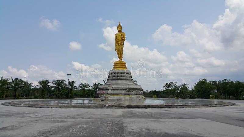 Offentligt munkstatyområde parkerar royaltyfria bilder