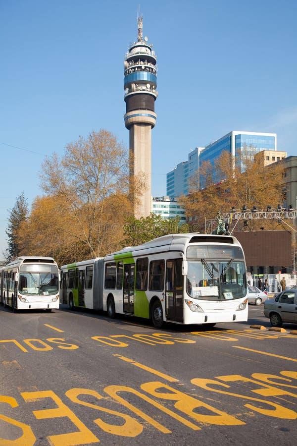 offentligt trans. för buss royaltyfria bilder