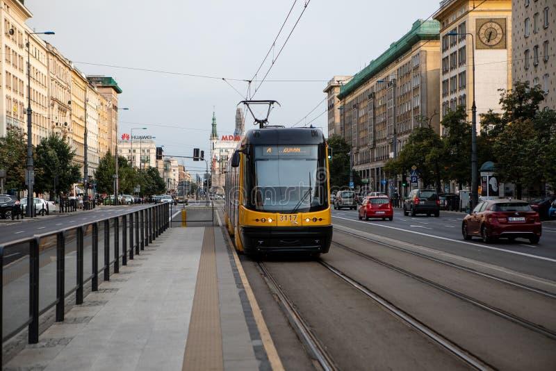 Offentligt trans. i Warszawa royaltyfria foton