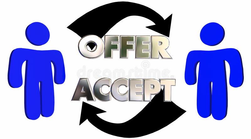 Offer Accepted People Customer Sales Person Deal vector illustration