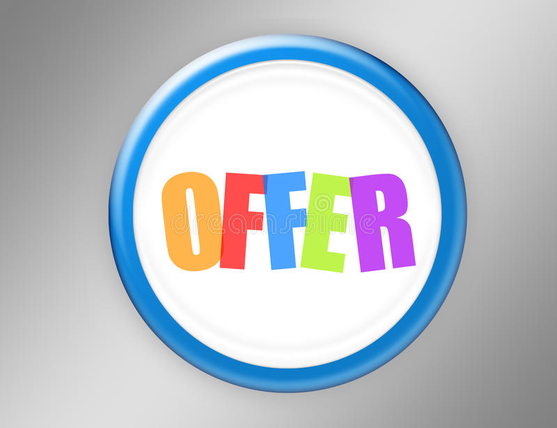 Offer button stock illustration