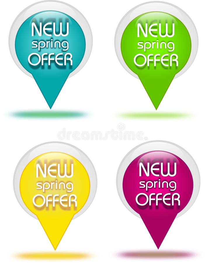 Download Offer Buttons Stock Illustration - Image: 39999408