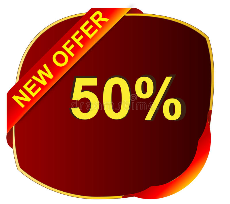 Offer Icons stock photo