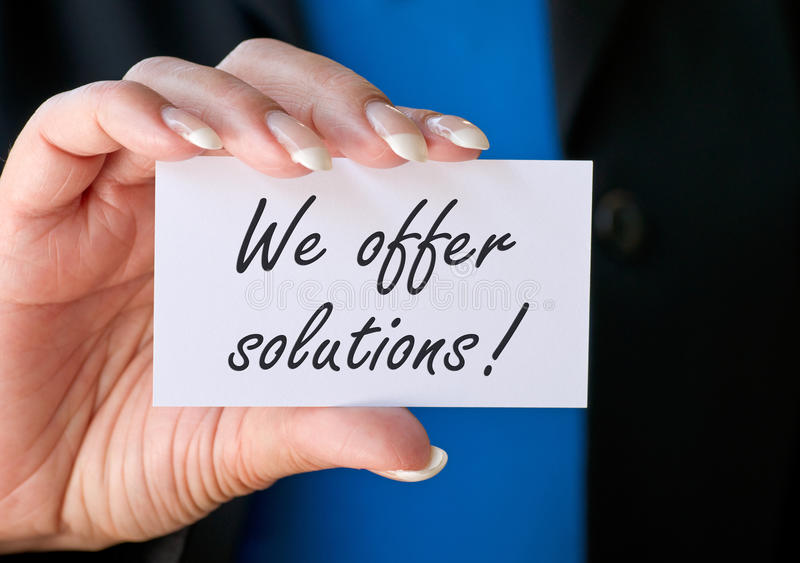 Download We offer solutions stock photo. Image of profession, economic - 39501878