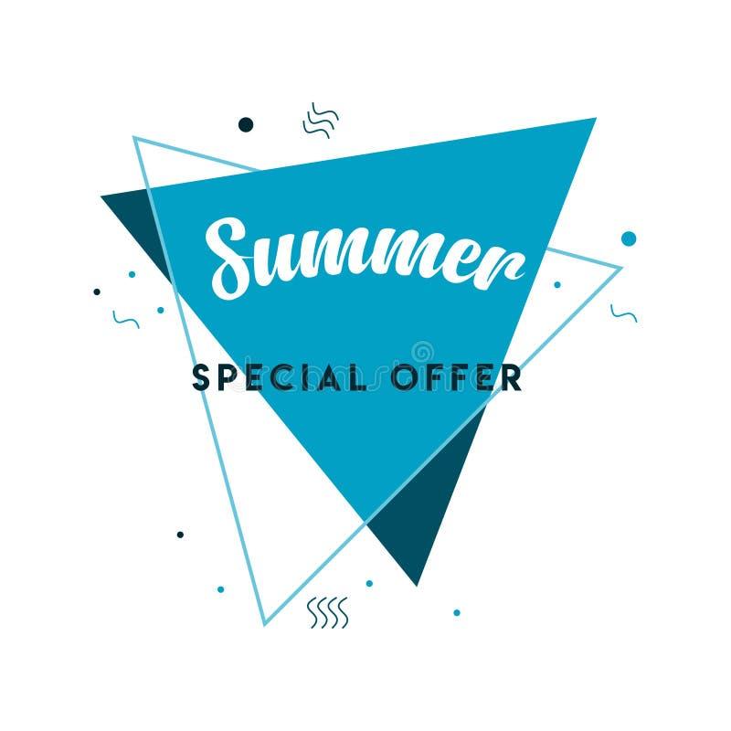 Summer Special Offer Logo Vector Template Design Illustration stock illustration