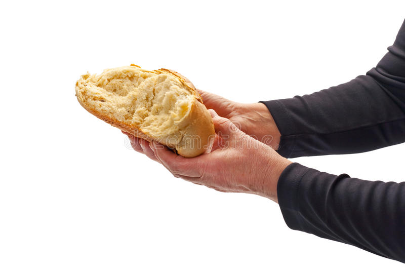 Offering Bread stock image