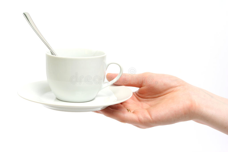 Offering Coffee or Tea stock image