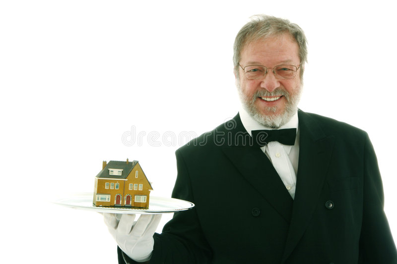 Offering a house royalty free stock image