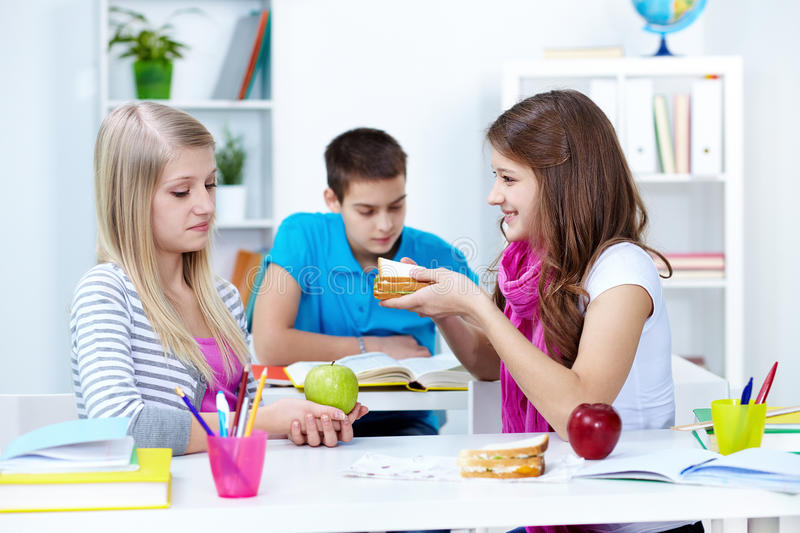 Download Offering sandwich stock image. Image of apple, cheerful - 25940559