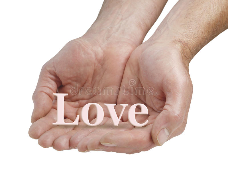 Offering you pure love royalty free stock photo