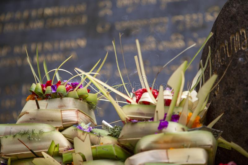 Offerings Bali stock photos