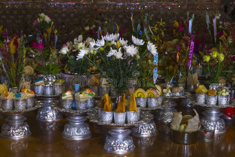 Offerings to the Buddha. In Shwe Yan Pyay monastery , Myanmar (Burma stock photos