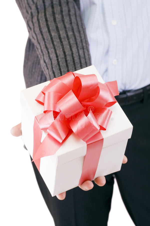Offerta del regalo fotografia stock