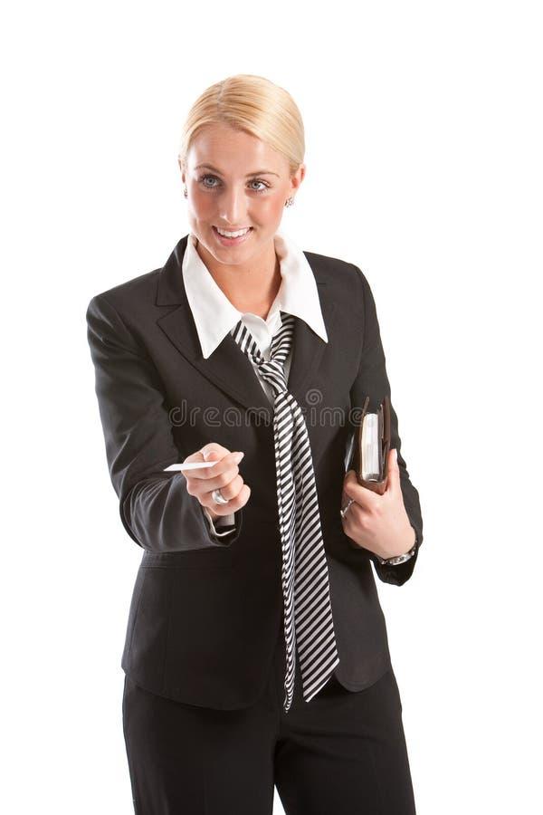 Offerta del suo businesscard immagini stock