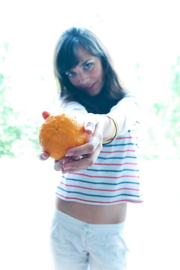 Offerta dell'arancio fotografie stock libere da diritti
