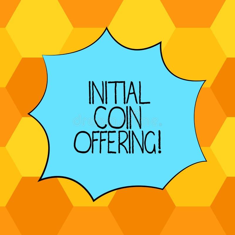 Offerta della moneta di iniziale del testo della scrittura Il significato di concetto è un tipo di folla che il finanziamento fac illustrazione di stock