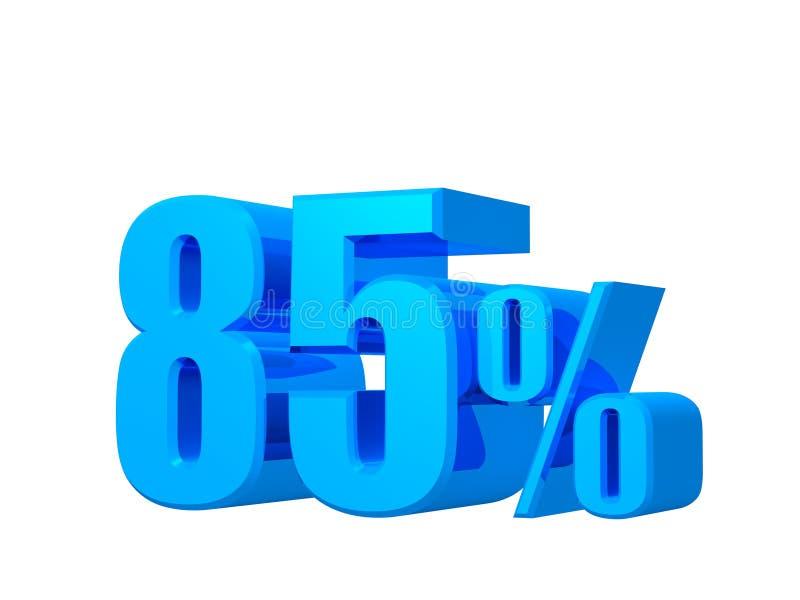 offerta di 85%, prezzo di offerta, sconto, promozione delle vendite, rappresentazione 3D sul fondo bianco illustrazione di stock