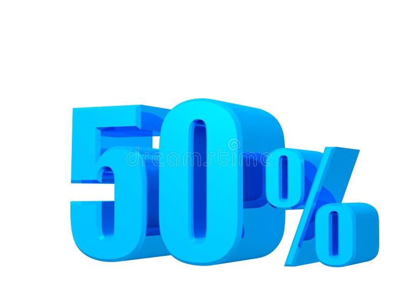 offerta di 40%, prezzo di offerta, sconto, una promozione delle vendite di quaranta per cento, rappresentazione 3D sul fondo bian royalty illustrazione gratis