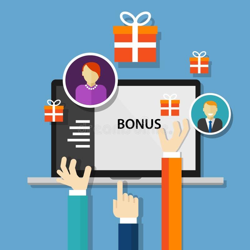 Offerta di promozione dei benefici della ricompensa degli impiegati di indennità illustrazione di stock